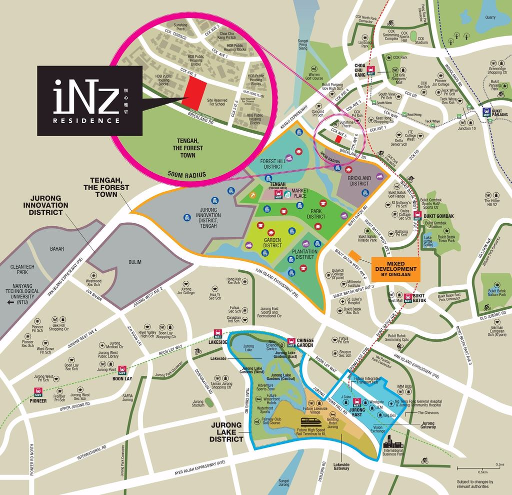 PropNex Local Projects - iNz Residence Location Map (Dynamic Force Group)