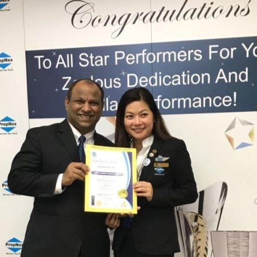 Dynamic Force Group - Jasmine Ng Nov 2017 Platinum Award with Ismail