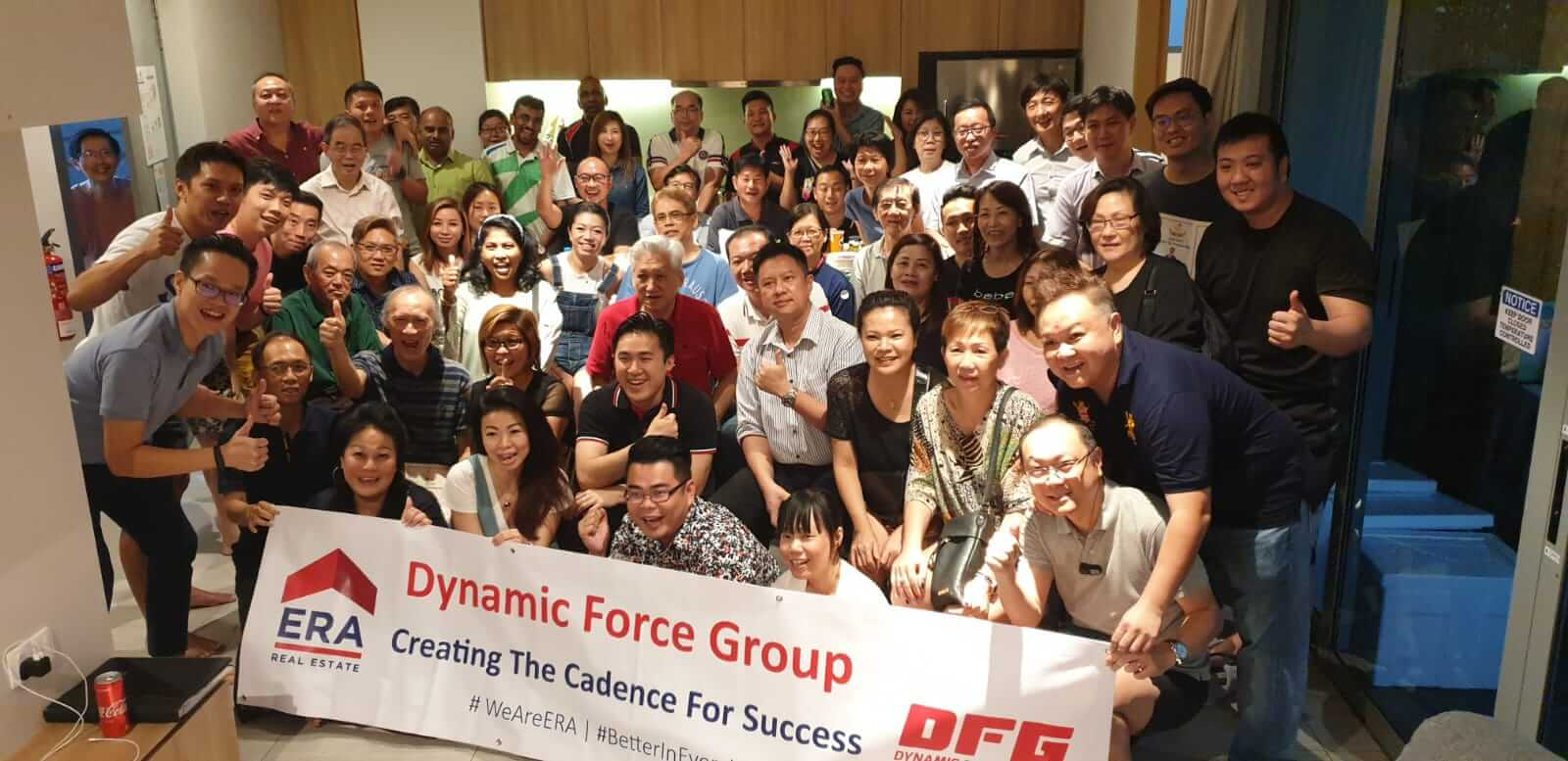 Dynamic Force Group quarterly retreat at chevrons - Whole Group 01